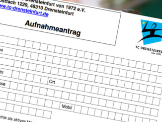 Aufnahmeantrag TC Drensteinfurt